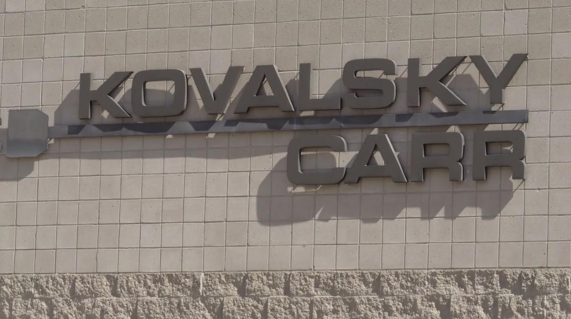 Kovalsky Carr logo on storefront